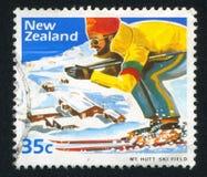Skier at Mount Hutt Ski Field Stock Image