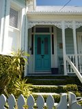 New Zealand: classic Auckland villa home entry Royalty Free Stock Photo