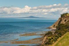 New Zealand coastline and Rangitoto Island Royalty Free Stock Photo