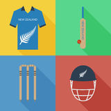 New Zealand cricket icons Royalty Free Stock Photos
