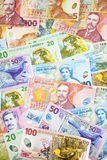 New Zealand Currency Background Royalty Free Stock Photography