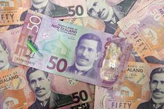 New Zealand Currency Notes background royalty free stock photography