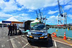 New Zealand Customs Service officers Royalty Free Stock Image