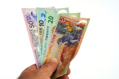 New Zealand Dollar banknotes stock photo