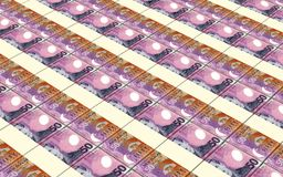 New Zealand dollar bills stacks background. Computer generated 3D photo rendering Royalty Free Stock Photography