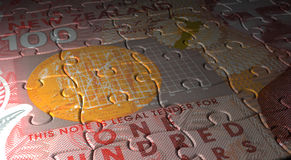 New Zealand Dollar Puzzle Stock Photo