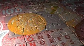 New Zealand Dollar Puzzle Stock Photo