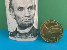 New Zealand dollar versus US dollar Stock Image