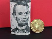 New Zealand dollar versus US dollar Stock Photography