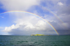 New Zealand double rainbow royalty free stock images