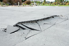 New Zealand Earthquake damage. 4th september 4.36am Christchurch, New Zealands 3rd largest city. 7.1 magnitute. Miraculously no deaths, but everyone has damage Royalty Free Stock Images