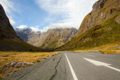 New Zealand Fiordland Mountain Landscape Royalty Free Stock Photography