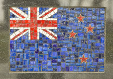 New Zealand flag. Made of small marble pieces Royalty Free Stock Photos