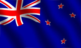 New Zealand flag. Flag of New Zealand. With waving effect Royalty Free Stock Photo