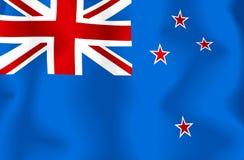 New Zealand Flag. Waving flag of new zealand - new zealand's flag royalty free illustration