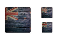 New-zealand Flag Buttons Stock Photography