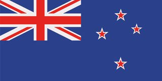 New Zealand flag. Country vector stock illustration