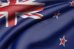 New Zealand flag. 3d rendering of a New Zealand flag waving Royalty Free Stock Photography
