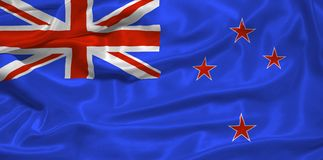 New Zealand Flag drawn by me3. Illustration of waving New Zealander flag close up royalty free illustration
