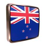 New Zealand flag icon Royalty Free Stock Image
