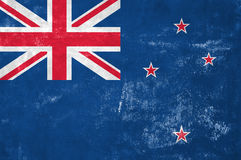 New Zealand Flag. New Zealand - Flag on Old Grunge Texture Background vector illustration