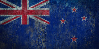 New Zealand Flag painted on a Wall. Ddistressed Painting of a Flag on an old Wall Stock Images