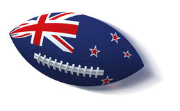 New Zealand flag on rugby ball with motion blur on White Royalty Free Stock Photo
