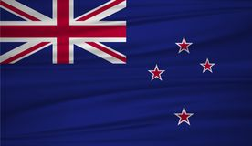 New Zealand flag vector. Vector flag of New Zealand blowig in the wind. EPS 10 Royalty Free Stock Photography