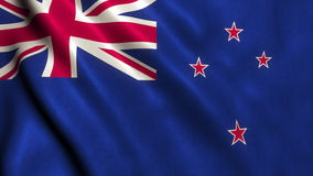 New Zealand Flag Video Footage Animation - 4K stock video