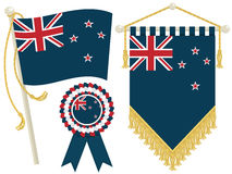 New zealand flags Royalty Free Stock Images