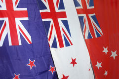 New Zealand flags Stock Photography
