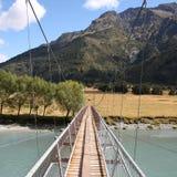 New Zealand footbridge Royalty Free Stock Photo