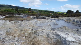 New Zealand Geothermal Spring. New Zealand Volcanic Geothermal hot spring. Photo taken during holidays at NZ Royalty Free Stock Image