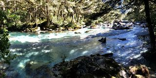 New Zealand Glacial River - South Island stock photography