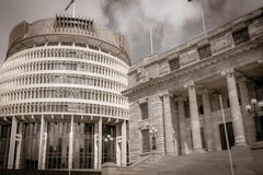 New Zealand Government buildings stock image