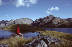 New Zealand hiker Stock Image
