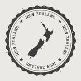New Zealand hipster round rubber stamp with. royalty free illustration
