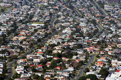 New Zealand Housing. Aerial view of New Zealand houses at Mount Maunganui, Bay of Plenty, New Zealand Stock Photography