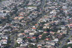 New Zealand Housing. Aerial view of New Zealand houses at Mount Maunganui, Bay of Plenty, New Zealand Royalty Free Stock Photography
