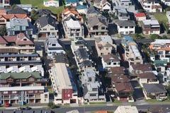 New Zealand Housing. Aerial view of New Zealand houses at Mount Maunganui, Bay of Plenty, New Zealand Royalty Free Stock Image