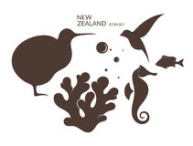 New Zealand. Icon set Stock Photo