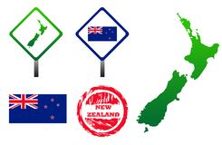 New Zealand icons set Stock Photo