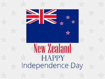 New Zealand Independence Day. Festive banner with flag and text. Vector. Illustration Stock Photography
