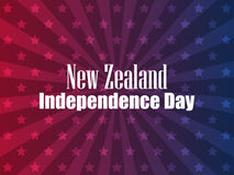 New Zealand Independence Day. Festive banner with stars and text. Vector. Illustration Royalty Free Stock Photos