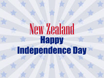 New Zealand Independence Day. Festive banner with stars and text. Vector. Illustration Stock Images