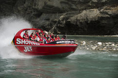 New Zealand jetboating Stock Photography