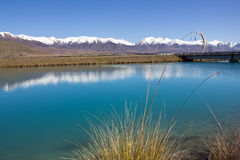 New zealand, lake near twizel Stock Images