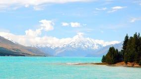 New Zealand Lake Punkaki Stock Photography