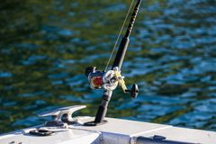 Fishing New Zealand South Island lakes and mountains. New Zealand lakes, mountains and fishing in the summer of 2019 stock image
