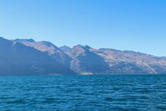 Fishing New Zealand South Island lakes and mountains. New Zealand lakes, mountains and fishing in the summer of 2019 royalty free stock image